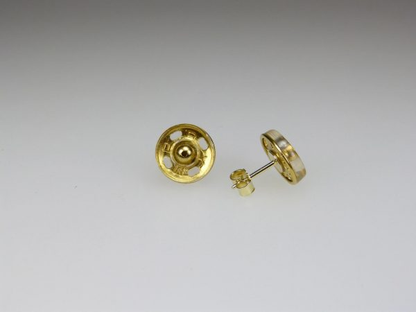 Ohrstecker Druckknopf -gold - Mechthild von Klipstein
