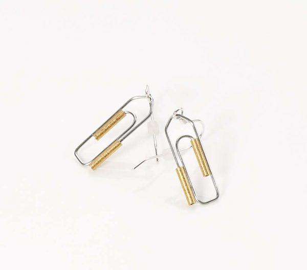 Ohrhänger Büroklammer - Mechthild von Klipstein