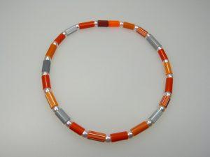 Kette Stifte-orange - Mechthild von Klipstein