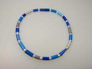 Kette Stifte-blau - Mechthild von Klipstein